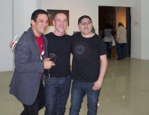 the trio: Luis Gomez Rincon, Michele Molinari, Luis Marte