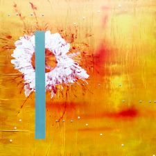 #06 - mixed media, acrylic on newspaper and canvas, 100x100x3cm 40x40in (2017) - US$1,000