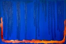 #11 - acrylic on canvas, 100x150x3cm 40x60x1.2in (2017) - US$1,600